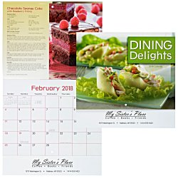 View a larger, more detailed picture of the Dining Delights Calendar - Stapled
