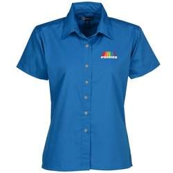 View a larger, more detailed picture of the Blue Generation SS Poplin Shirt - Ladies