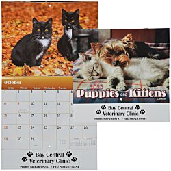 View a larger, more detailed picture of the Paws - Puppies & Kittens Calendar - Stapled