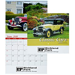 View a larger, more detailed picture of the Classic Cars Calendar - Stapled