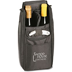 View a larger, more detailed picture of the Wine Lovers Cooler Set - Black