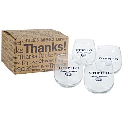 View a larger, more detailed picture of the Stemless Red Wine Glass Set - 16-3 4 oz 
