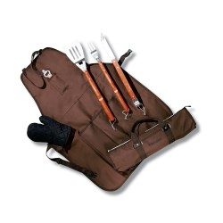 View a larger, more detailed picture of the 6-Piece BBQ Apron Set