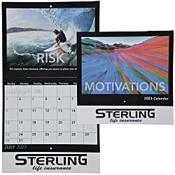 View a larger, more detailed picture of the Motivations Calendar - Stapled - 24 hr