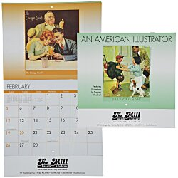 View a larger, more detailed picture of the An American Illustrator Calendar - Stapled - 24 hr