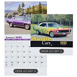 View a larger, more detailed picture of the Muscle Cars Calendar - Stapled - 24 hr