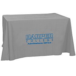View a larger, more detailed picture of the Open-Back Poly Cotton Table Throw - 4