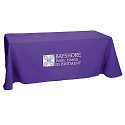 View a larger, more detailed picture of the Open-Back Poly Cotton Table Throw - 6 