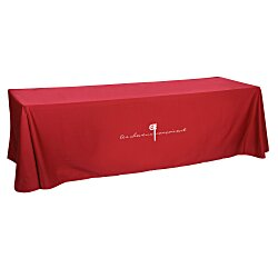 View a larger, more detailed picture of the Open-Back Poly Cotton Table Throw - 8
