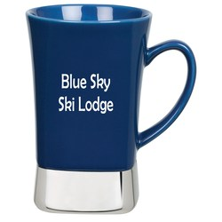 View a larger, more detailed picture of the Steel Bottom Ceramic Mug - 12 oz - Closeout
