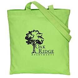 View a larger, more detailed picture of the Cotton Sheeting Colored Economy Tote - 15-1 2 x 15