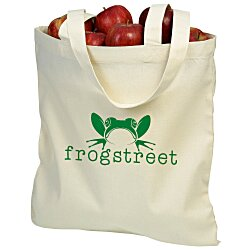View a larger, more detailed picture of the Cotton Sheeting Natural Economy Tote - 15-1 2 x 15 - 24 hr