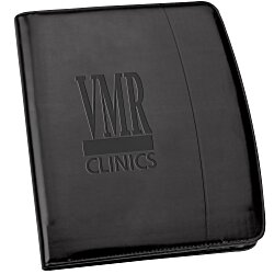 View a larger, more detailed picture of the Windsor Reflections Zippered Padfolio - Debossed
