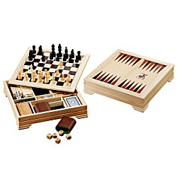 View a larger, more detailed picture of the 7 in 1 Traditional Game Set - 24 hr