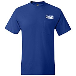 View a larger, more detailed picture of the Hanes Beefy-T with Pocket - Colors