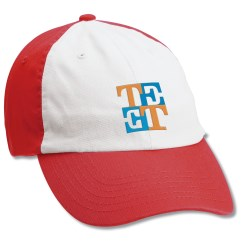 View a larger, more detailed picture of the Bio-Washed Cap - White Front - Embroidered