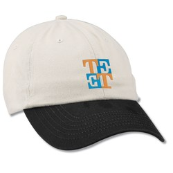 View a larger, more detailed picture of the Bio-Washed Cap - Two Tone - Embroidered