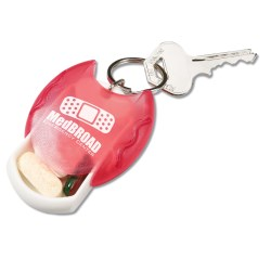 View a larger, more detailed picture of the Pill Dispenser Key Tag - Translucent
