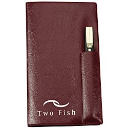 View a larger, more detailed picture of the Weekly Pocket Planner w Pen - Opaque