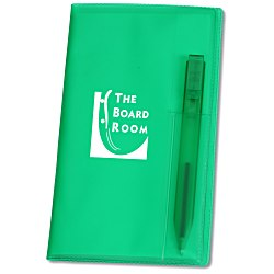 View a larger, more detailed picture of the Weekly Pocket Planner w Pen - Translucent