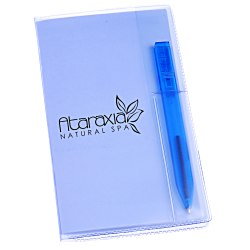 View a larger, more detailed picture of the Monthly Pocket Planner w Pen - Translucent