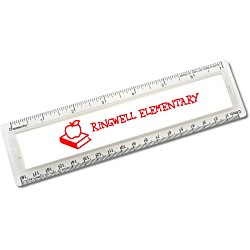 View a larger, more detailed picture of the Corn Plastic Magnaview Ruler - 7 