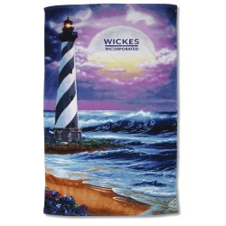 View a larger, more detailed picture of the Scenic Beach Towel - Lighthouse Design