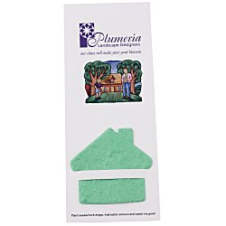 View a larger, more detailed picture of the Plant-A-Shape Herb Garden Bookmark - House