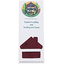View a larger, more detailed picture of the Plant-A-Shape Flower Seed Bookmark - House