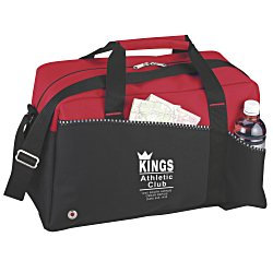 View a larger, more detailed picture of the Two-Tone Duffel Bag - 24 hr