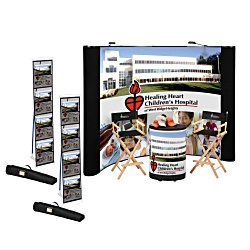 View a larger, more detailed picture of the Standard Curved Floor Display - 10 - Mural Center - Kit