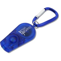 View a larger, more detailed picture of the Retractable Carabiner Flashlight - Translucent