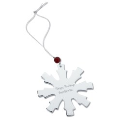 View a larger, more detailed picture of the Silver Ornament - Snowflake