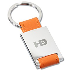 View a larger, more detailed picture of the Colorplay Leather Key Ring