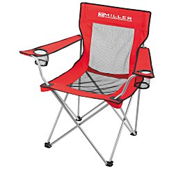 View a larger, more detailed picture of the Mesh Folding Chair w Carrying Bag