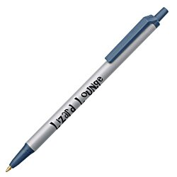 View a larger, more detailed picture of the Bic Clic Stic Pen - Metallic