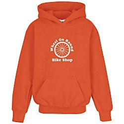 View a larger, more detailed picture of the Gildan 50 50 Hooded Sweatshirt - Screen - Youth