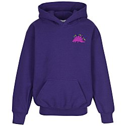 View a larger, more detailed picture of the Gildan 50 50 Hooded Sweatshirt - Youth - Embroidered