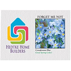 View a larger, more detailed picture of the Impression Series Seed Packet - Forget Me Not