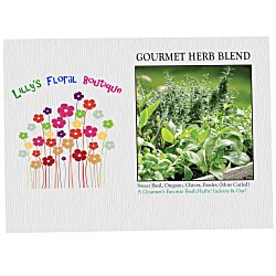 View a larger, more detailed picture of the Impression Series Seed Packet - Gourmet Herb Blend