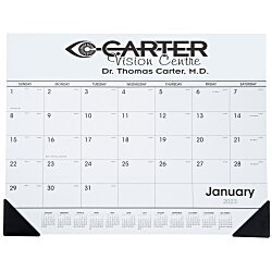 View a larger, more detailed picture of the Desk Pad Calendar w Vinyl Corners
