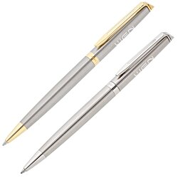 View a larger, more detailed picture of the Waterman Hemisphere Stainless Pen - Gold Trim