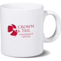 View a larger, more detailed picture of the Big Budget-Beater White Mug - 20 oz