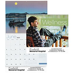View a larger, more detailed picture of the Wellness 12-Month Calendar