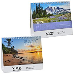 View a larger, more detailed picture of the Scenic Moments Tent-Style Desk Calendar