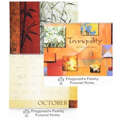 View a larger, more detailed picture of the Tranquility 12-Month Calendar