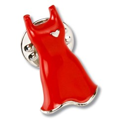 View a larger, more detailed picture of the Stock Red Dress Lapel Pin