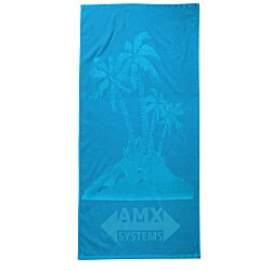 View a larger, more detailed picture of the Tone on Tone Stock Art Towel - Palm Tree
