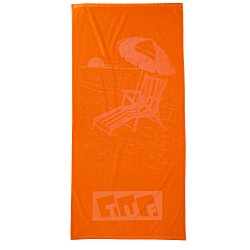 View a larger, more detailed picture of the Tone on Tone Stock Art Towel - Chair w Umbrella