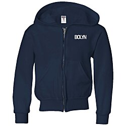 View a larger, more detailed picture of the Jerzees NuBlend Full-Zip Hooded Sweatshirt - Youth